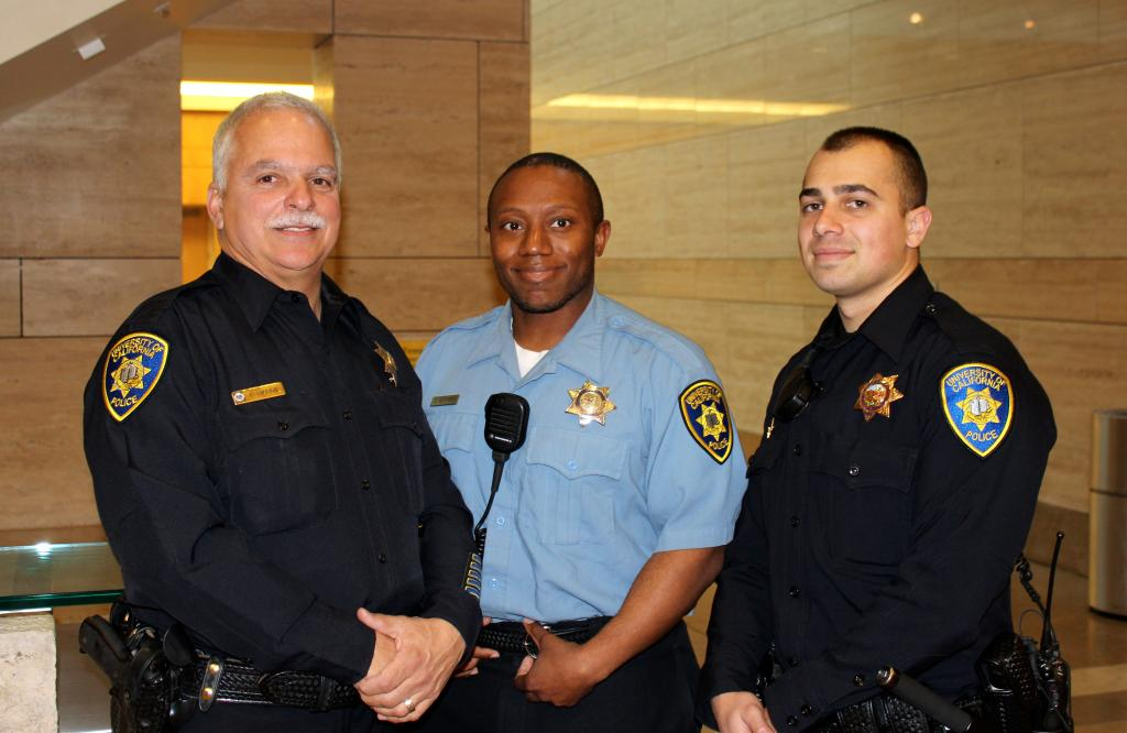 UCSF police officers and security guard